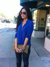 royal blue blouse top royal blue glam latte