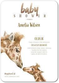 baby shower giraffe giraffe baby shower invitations in brown jae