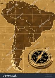 Old Map South America by Map South America On Old Background Stock Illustration 77365558
