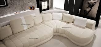 canapes haut de gamme canapé d angle panoramique design en cuir italien
