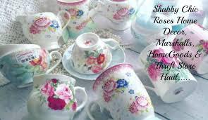shabbychic roses home decor haul marshalls homegoods u0026 thrift