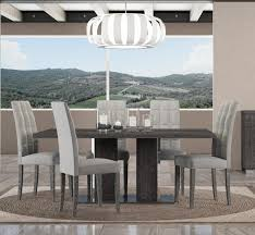 grey kitchen table and chairs venicia extending dining table in grey birch look veneer with