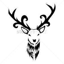 reindeer tattoo design vector image 1433615 stockunlimited