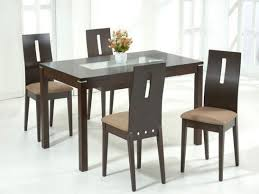 cheap glass dining room sets glass dining table wood base round and chairs cheap dark tables