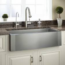 Cheap Farmhouse Kitchen Sinks 36 Optimum Stainless Steel Farmhouse Sink Wave Apron Kitchen