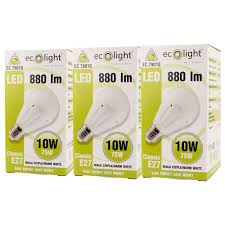 ecolight led light bulb e27 gls 10w 75w dimmable frosted warm