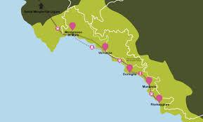 Cinque Terre Map Liguria Travel Map Liguria Plane