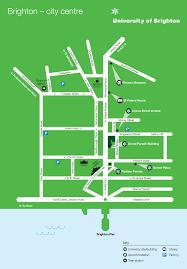 Brighton England Map by Grand Parade Campus