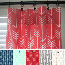 Coral And Navy Curtains Arrow Curtain Panels Coral Navy Mint Gray Gold Pair