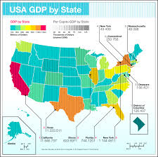 Usa Map By State by Us Gdp By State Creditloan Com