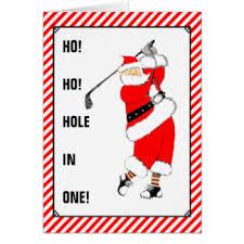 santa golf cards u0026 invitations zazzle com au