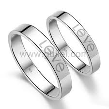 Wedding Ring Sets For Him And Her White Gold by Promise Rings For Her And Him Personalized Names Set Of 2