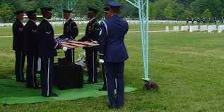 Flag Folding Ceremony Lt Colonel A L