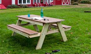 Plans For Building A Heavy Duty Picnic Table by Picnic Table Plans How To Build A Picnic Table