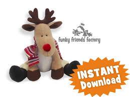 reggie reindeer instant download sewing pattern pdf