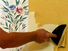 How To Take Cabinets Off The Wall How To Remove Wallpaper Hgtv