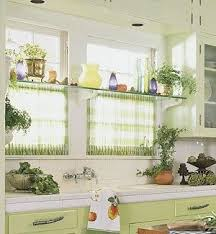kitchen window decorating ideas curtains on bottom with a shelf for plants in the middle of window