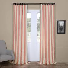 exclusive fabrics light pink cream stripe faux silk taffeta