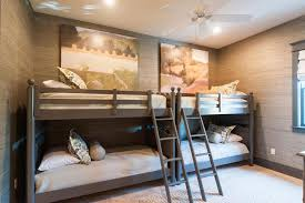 House Bunk Beds Gray Bunk Beds With Gray Ladders Cottage Boy S Room