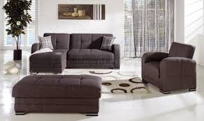 Microfiber Sectional Sofas by Kubo Sectional Sofa In Andre Dark Brown Fabric By Sunset