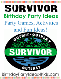 survivor party ideas challenges and games