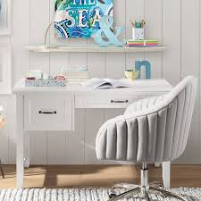 Small Desk White Hton Single Pedestal Desk Pbteen