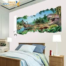 removable 3d drawbridge bedroom kindergarten decoration floor details about jurassic world dinosaur scroll vinyl mural wall decals sticker kids room decor