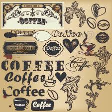 coffee labels with ornaments vector 01 vector label vector