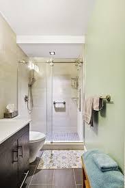 a windowless bathroom gets a modern overhaul