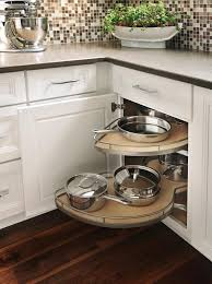 Lazy Susan For Corner Kitchen Cabinet Peerless Blind Corner Cabinet Shelf With Kidney Shaped Lazy Susan