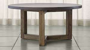 dining table base wood woodward round dining table with solid wood base reviews crate