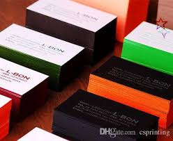 2017 high quality cotton paper color edge embossed calling