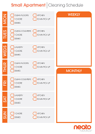 cleaning schedules and checklists for every home