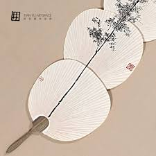 Chinese Wall Fan by Still Life Subject Chinese Fan Decor Home Wall Paintings With