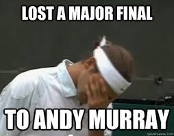 Andy Murray Meme - lost a major final to andy murray roger federer facepalm quickmeme