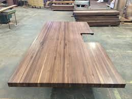 built up edges on wood countertops j aaron custom walnut butcher block with built up edge