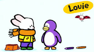 cartoon for kids louie draw me a penguin hd learn to draw