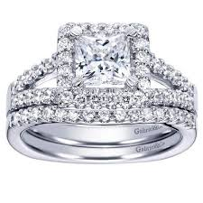 rings engagement princess cut halo split shank diamond engagement ring mullen