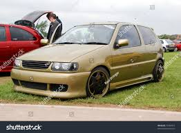 volkswagen polo white modified peterborough england may 24 gold volkswagen stock photo 73764412
