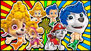 paw patrol and bubble guppies youtube
