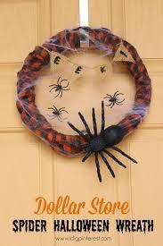 Halloween Wreaths Pinterest by Dollar Store Spider Halloween Wreath 20 Halloween Ideas I Dig