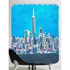 Skyline Shower Curtain Shimmer Shower Curtain Wayfair
