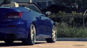 lexus awd convertible lexus is c convertible on 20 vossen vvs 086 wheels rims youtube