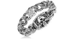 skull link bracelet images Lyst scott kay men 39 s skull link bracelet in sterling silver in jpeg