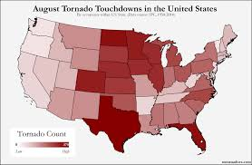 United States Storm Map by Here U0027s Where Tornadoes Typically Form In August Across The United