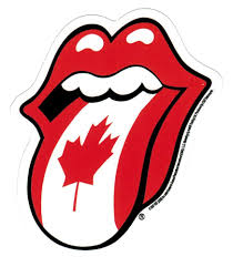 the rolling stones canadian flag tongue sticker
