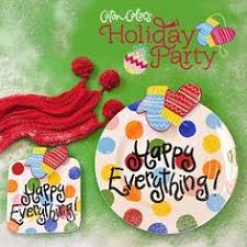 happy everything cookie jar coton colors happy everything bright dot mini platter 47