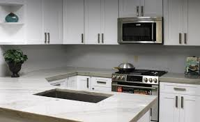 grey kitchen cabinets with white countertop home custom cabinets semi custom cabinets