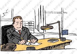 bureau du chef un chef d entreprise dans bureau illustration libre de droit sur