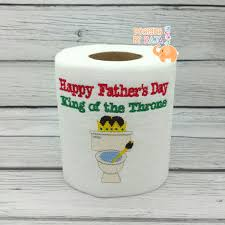 Toilet Paper Funny Happy Fathers Day Embroidered Toilet Paper Gift For Him Fathers